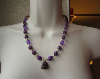 Purple necklace with Amethyst