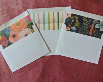 Decorative Envelopes, Custom Lined Envelopes, Envelopes with Liner