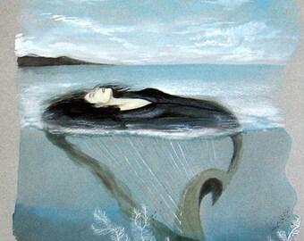 """""""Ocean"""" original watercolor art."""
