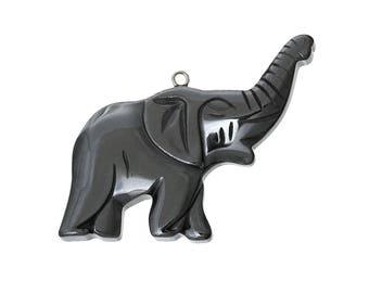 Hematite pendant animal Elephant 45 x 39 mm (P3)
