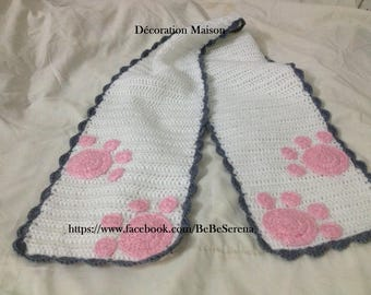 """kitten Paws"" scarf crochet"