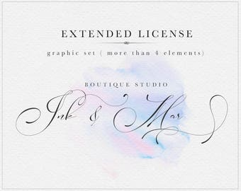 Extended License : Ink&Mar Studio - Graphic set ( more than 4 items )
