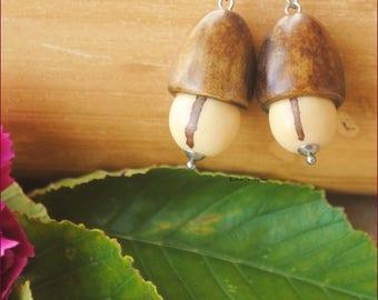 Natures Acorn earrings