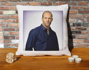 Jason Statham Pillow Cushion - 16x16in - White