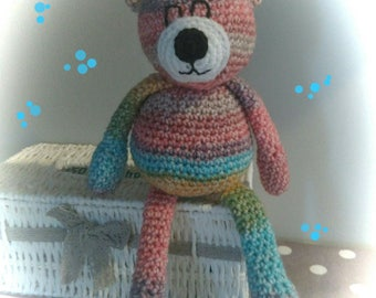 Bear made entirely crochet.