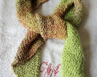Scarf woman green cotton