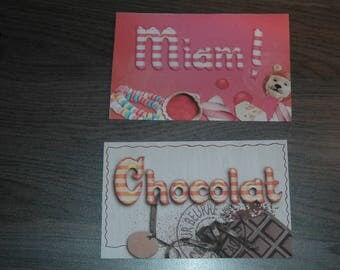 Labels arrangement for coffee, flour, sugar and candy box