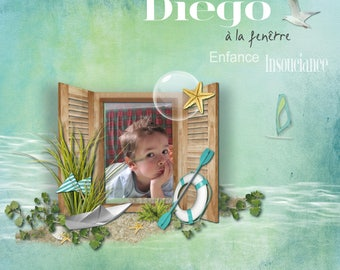"""Editing photos to put in a frame or under glass """"Diego in the window"""""""