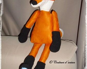 Fox, plush, orange, white, black, gift