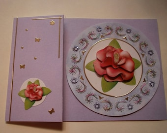 Embroidered card Camellia (7)