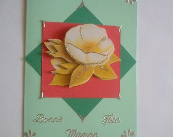 7 - Camellia mother's Day greeting card