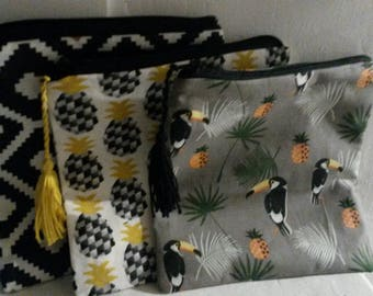 Trendy printed fabric ethnic bag