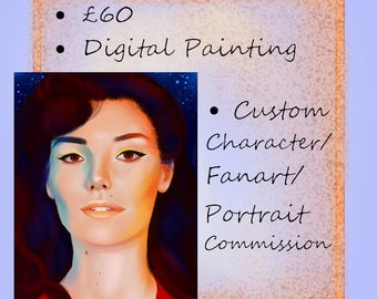 COMMISSION - Single Portrait, Digital Painting