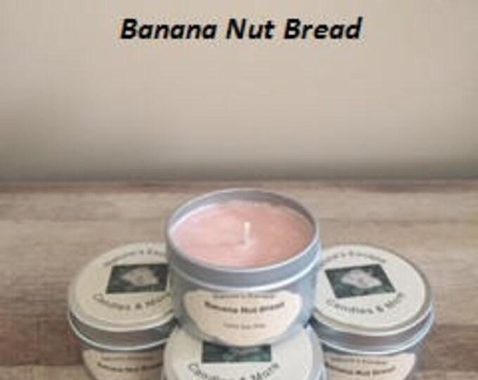 Banana Nut Bread Soy Wax 6 oz. Candle Tins