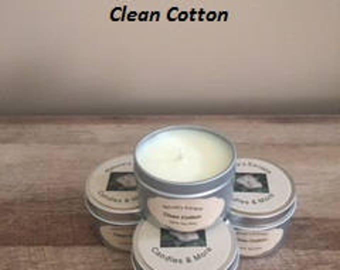 Clean Cotton Soy Wax 6 oz. Candle Tins