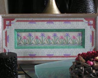 Picture art nouveau green iris
