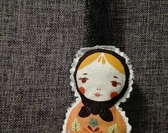 Matryoshka doll filled with Lavender flowers