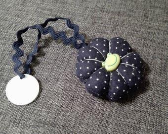 Blue Japanese flower Navy polka dot for trolley token