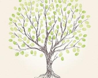 Fingerprint wedding tree / 60x80cm / 120-140 signatures