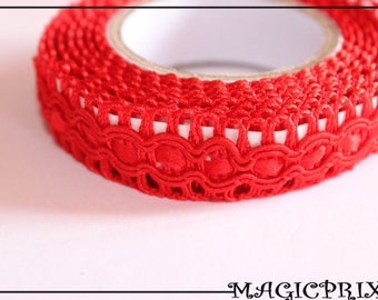 Lace fabric 1 m 20 x 15 mm red M2113 sticker