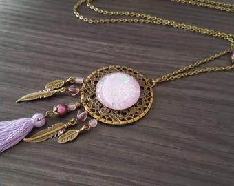 SunCatcher purple tassel necklace