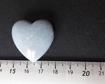 1 blue Calcite heart pendant