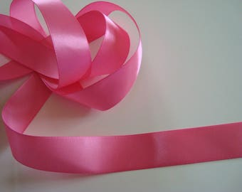 Set of 6 lengths of satin ribbon pink 22 mm wide - 6.10 m