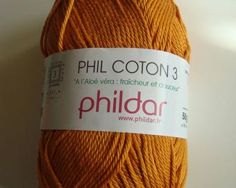 Wool PHIL cotton 3 Phildar - 50 g - giraffe - needle 2, 5-3 colors
