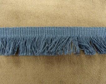Small fringe polyester-2 cm - Blue