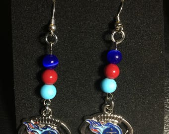 Tennessee Titans dangle earrings