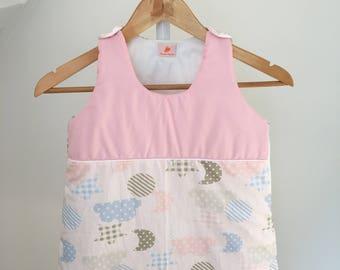 Sleeping bag 0-6 months baby pink cloud