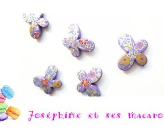 1 Purple Pearl acrylic Butterfly 29 x 22 mm