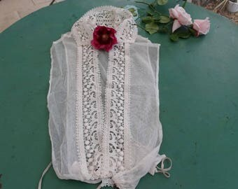 Old linen: roaring twenties lace blouse