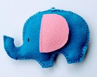 Elephant,  Felted Animal, Felted elephant, Cute Elephant, Baby