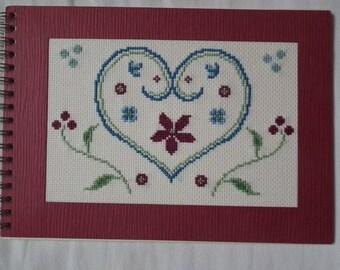 hand embroidered photo album
