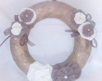 Shabby fabric flower Crown
