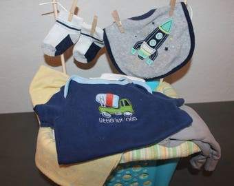 Laundry Baby Shower Gift Basket