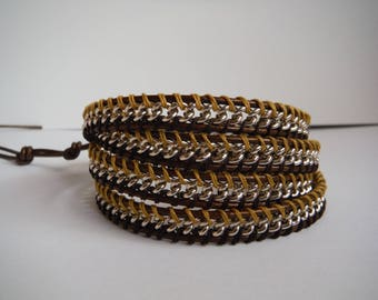 silver metal chain bracelet model chan luu