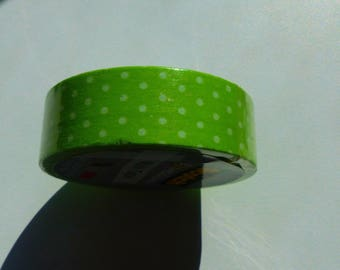 10 meters of masking tape green Scotch polka wahi tape 15 mm X 10 m adhesive tape