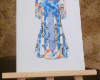 Kimono in iris folding card