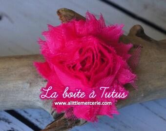 ★ Applique fabric flower cloth strapless headband diy belt ★ FUSCHIA pink FUSHIA