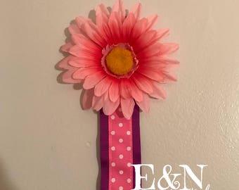 Bright pink/purple bow holder - Hair bow holder - bow holder - hair bow organizer - bow organizer - wall bow holder - hair clip holder