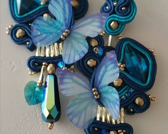 Blue Butterfly Earrings