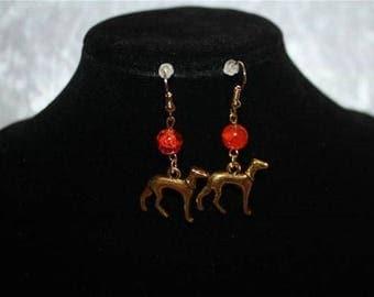 Greyhound earrings