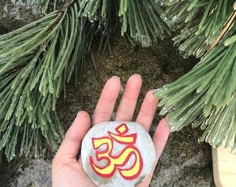 OM meditation stone