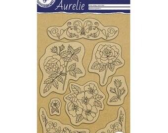 Garden botanical 2 stamp Clear_PGAUCS1002