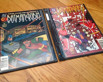 DC Batman & Robin Adventures comics #1 and #5