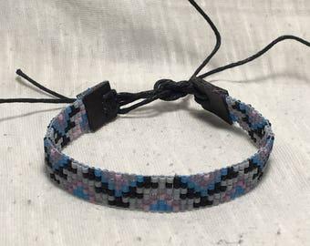 Aztec Style Simple Seed Bead Loom Bracelet