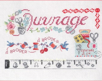 "Embroidery cross Pt ""Sampler sewing & Cie"" - v pattern"