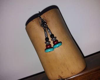 No. 15 Turquoise Obsidian + wood